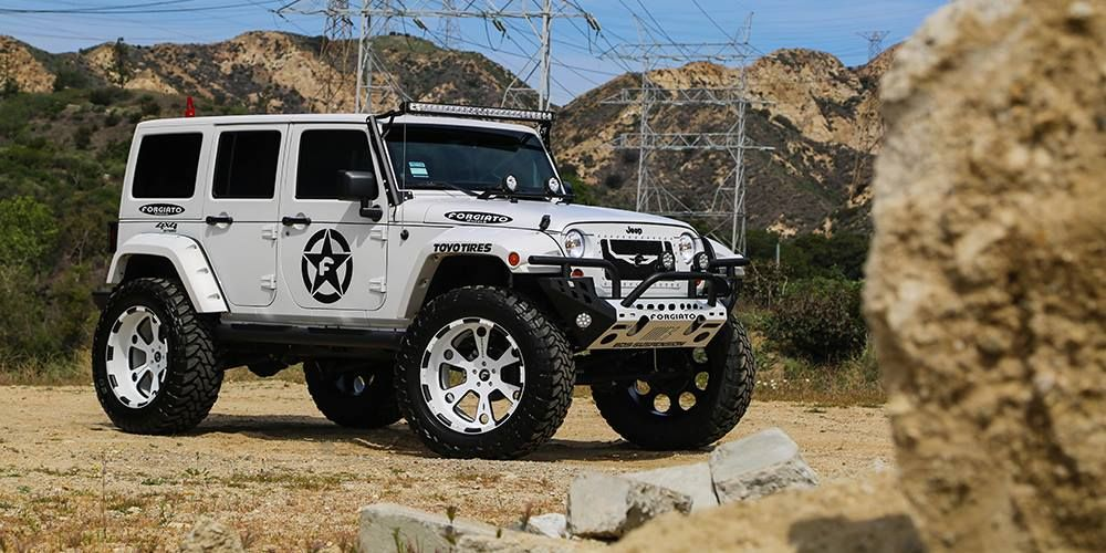 Lifted Jeep Wrangler On Forgiato Offroad Wheels Lifted Jeep