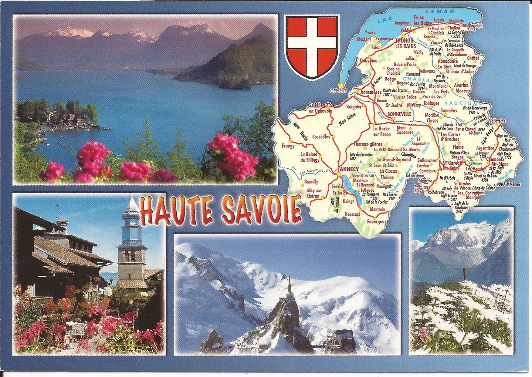 Haute Savoie Haute Savoie Savoie Carte Et Cartes