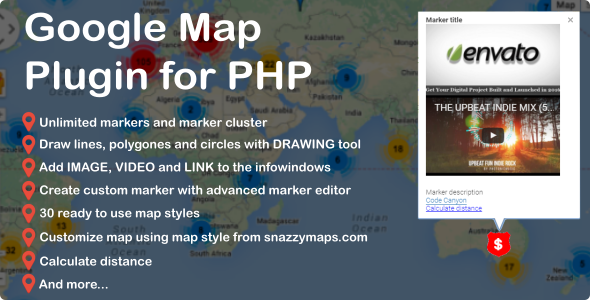 DML Google Map Script for PHP | PSD Templates | Custom google map