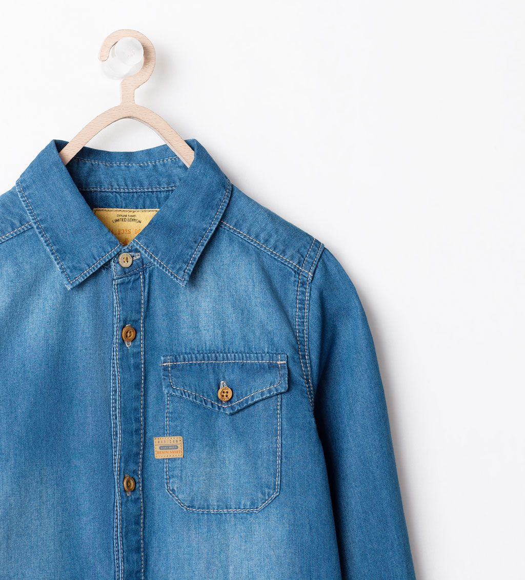 ZARA - KIDS - DENIM SHIRT WITH POCKET