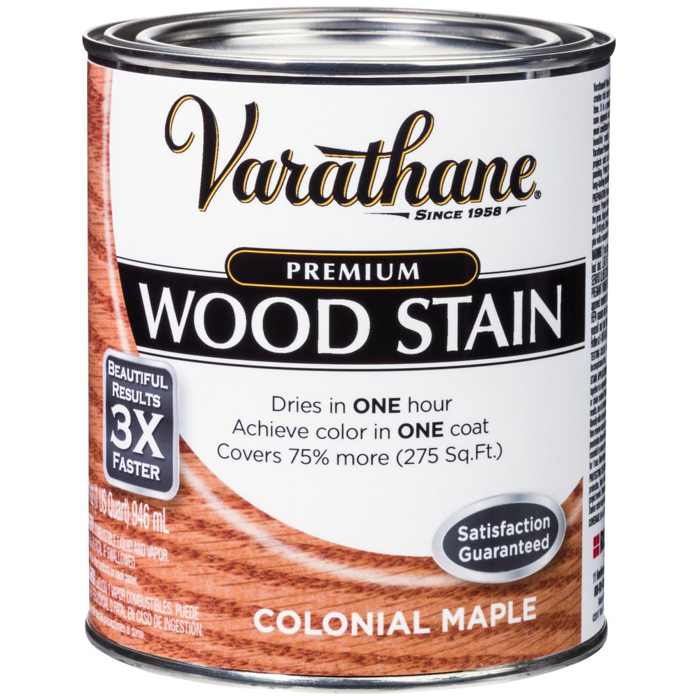 Varathane 1 Qt Colonial Maple Premium Fast Dry Interior Wood Stain 2 Pack Interior Wood Stain Varathane Wood Stain Weathered Wood