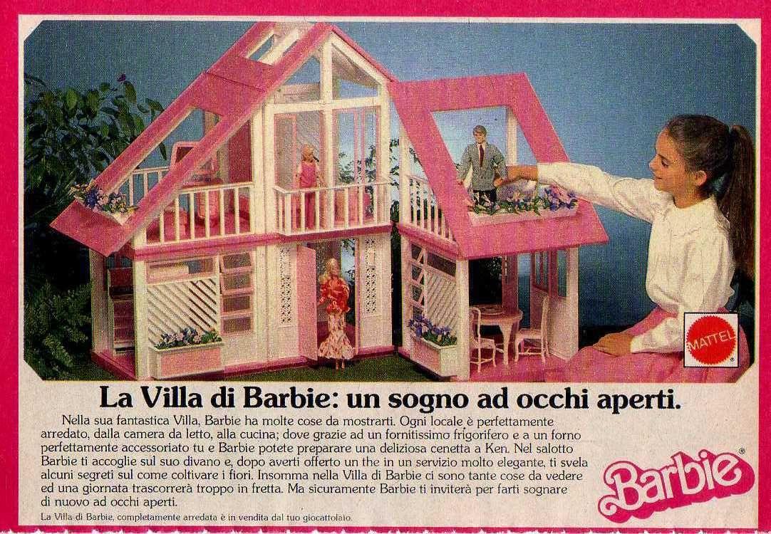 Q56 Pubblicità Advertising 1989 La Villa Di Barbie | eBay | Barbie