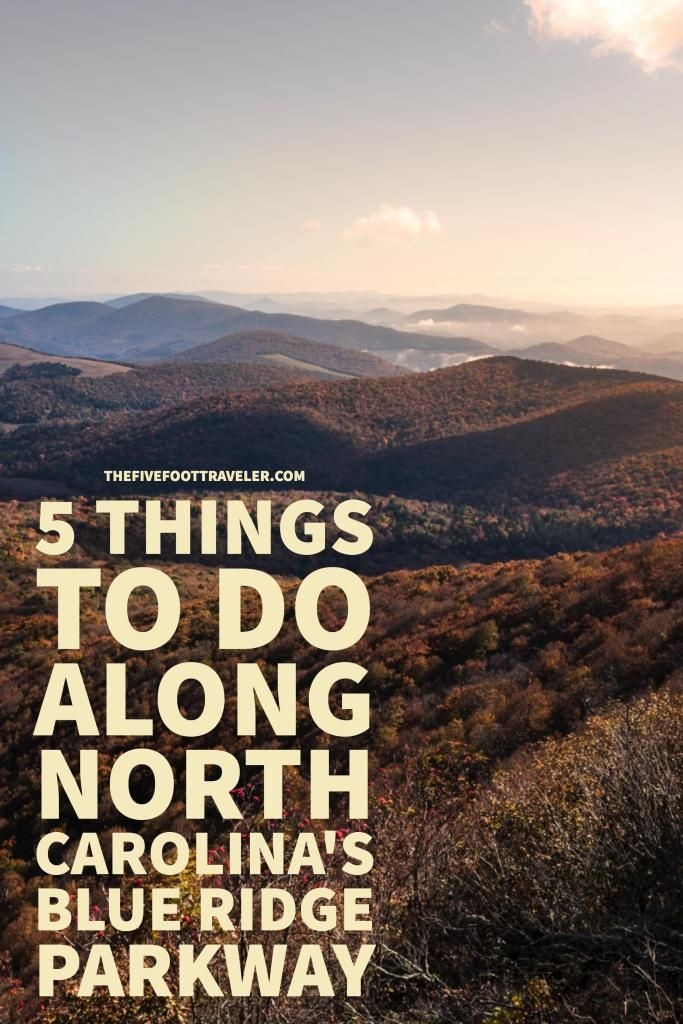 North Carolina's Blue Ridge Parkway offers fantastic views of the Great Smoky Mountains, along with some beautiful hikes! Read more at www.thefivefoottraveler.com