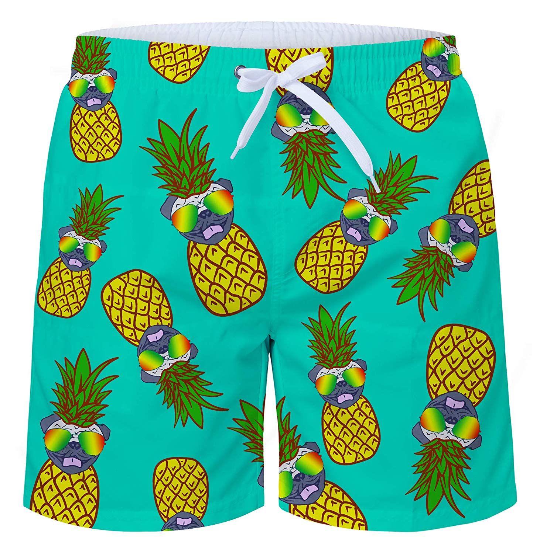 b9e058dd5f Uideazone Men's Pineapple Cute Swim Trunks Quick Dry Waterproof Bathing  Suits Beach Short All Over Print