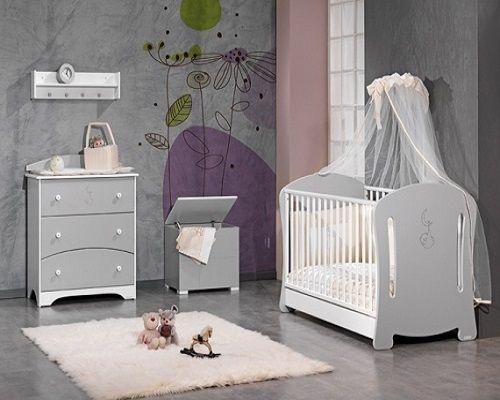 Décoration chambre bébé gris et blanc deco maison Pinterest