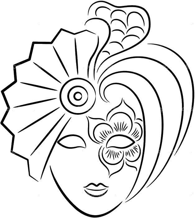 Immagine Una Bella Maschera Di Carnevale Carnevale Disegni Di
