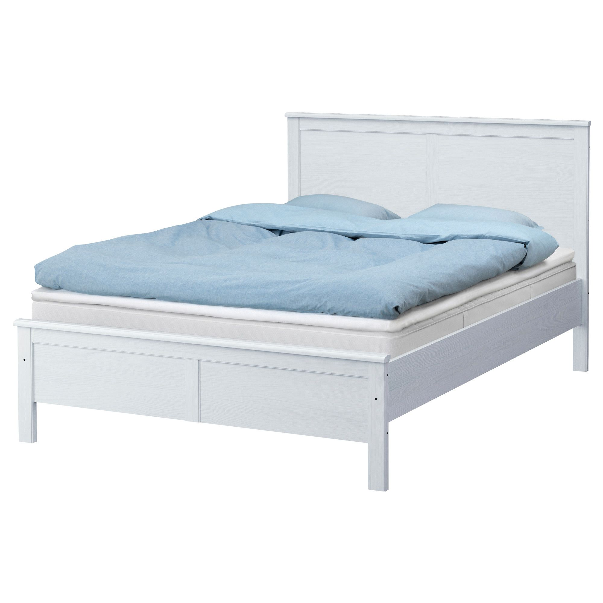 ASPELUND Bed frame with slatted bed base - 140x200 cm - IKEA ...