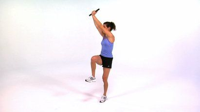 Build upper-body strength while improving balance and stability with the 1 Leg Rotational Lift.