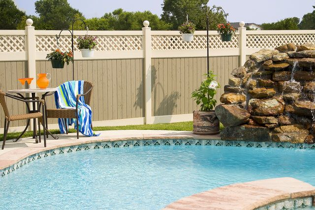 Beautiful Vynil Privacy Fence For My Pool And Back Yard