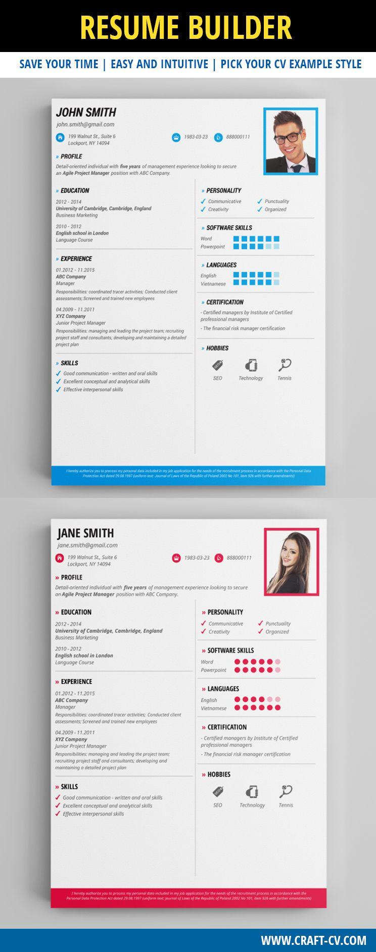 professional clear cv template resumetemplate resume cv