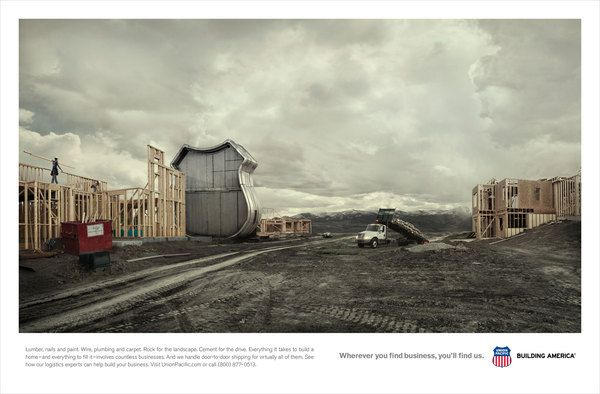 "Union Pacific ""You'll Find Us"" Campaign by Brandon Oltman, via Behance"
