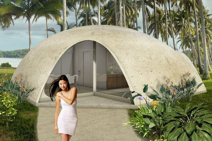 Colorful Binishell Dome Homes Made from Inflatable Concrete