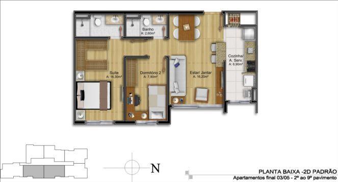 Plantas de casas até 60m2 3 modelos Plantas de casas