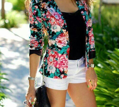 Fashion #flowers#blazer