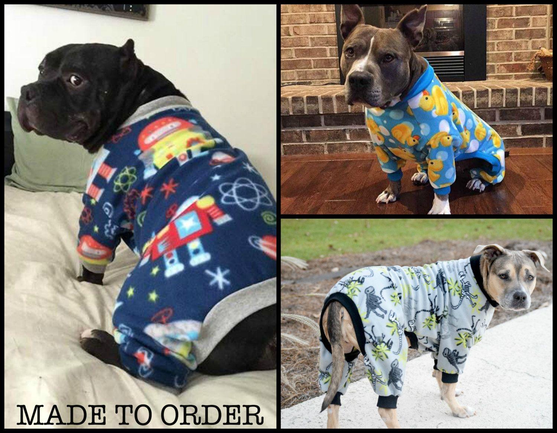 Custom Large Dog Pajamas Pjs Onesie By Toothandhoney On Etsy