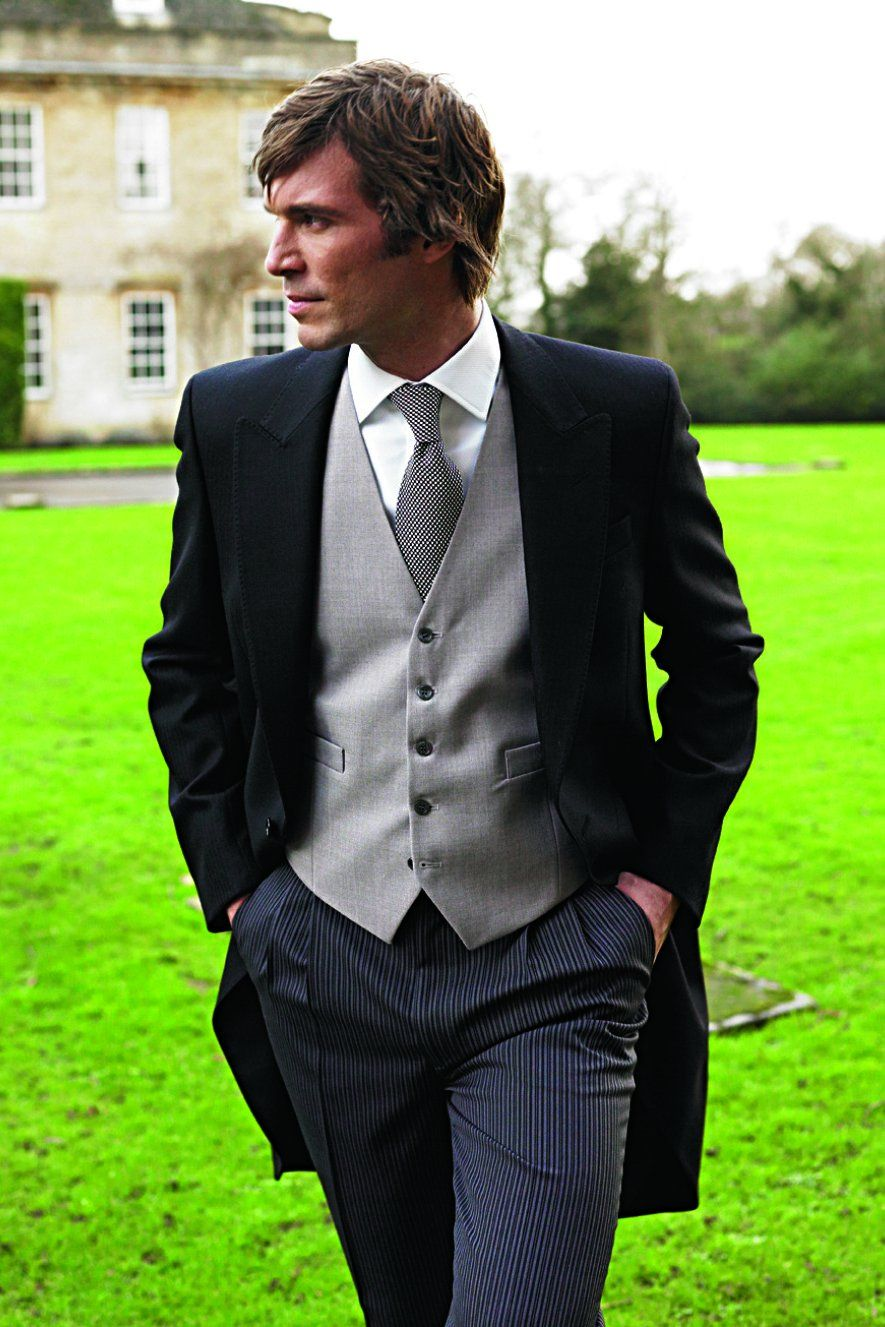 I love this morning suit look and want my fiance to wear this for