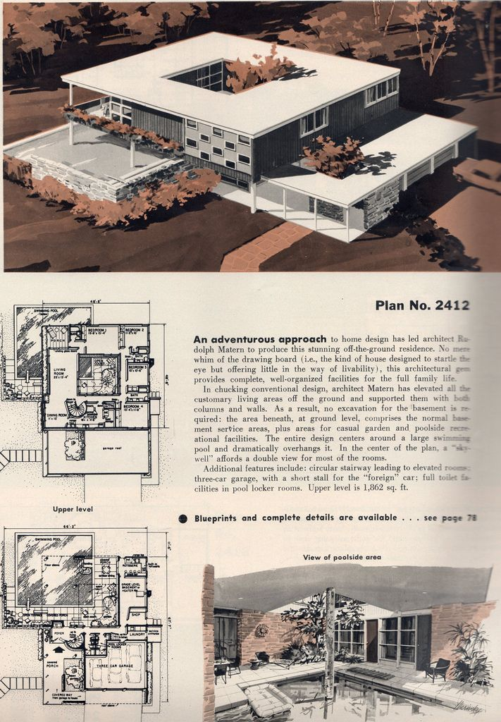 Untitled   Modern house plans, How to plan, Vintage house ...
