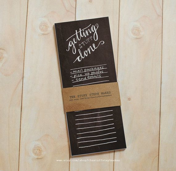 Getting Stuff Done  Hand lettered Chalk by thestuffstephmakes