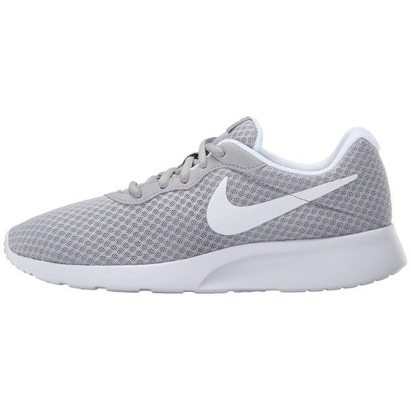 081022bc3ceb Nike Tanjun (Wolf Grey White) Women s Running Shoes (€45) ❤ liked on  Polyvore featuring shoes