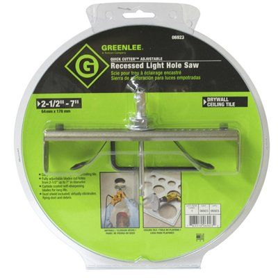 Recessed Light Hole Saw Glamorous Greenlee Quick Cutter™ Adjustable Recessed Light Hole Saw  *lowe's Review