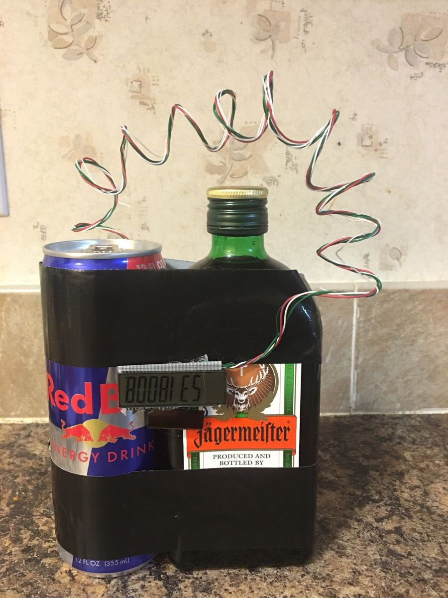 I made a jäger bomb for my gift exchange tomorrow