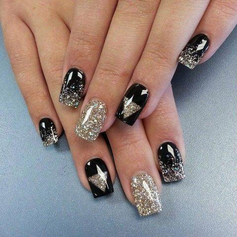 Allure Salon And Spa In Leominster Ma At Vagaro Com Gold Nails Stylish Nails Fancy Nails