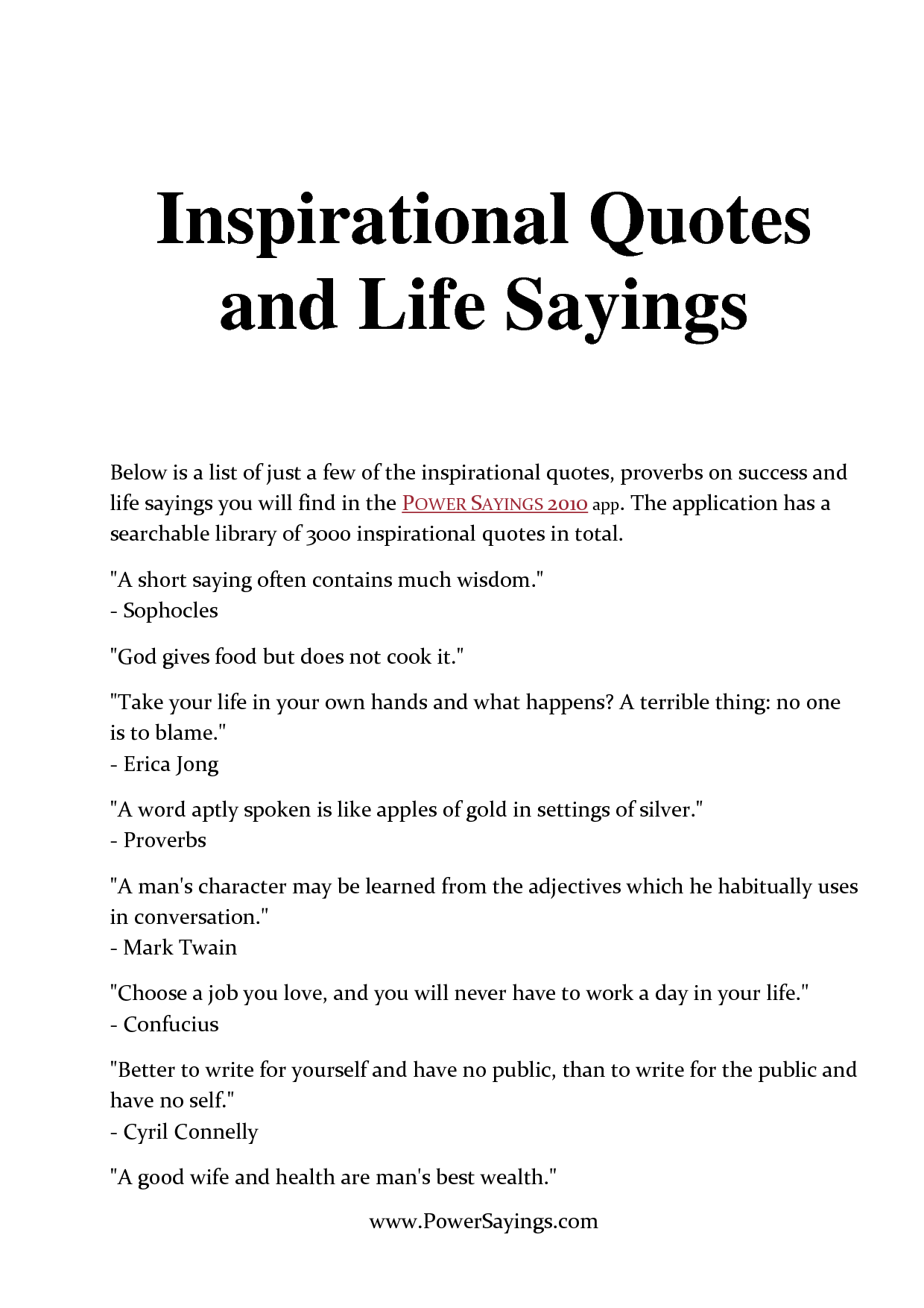 List Of Inspirational Quotes About Life Inspirational Quotes About Life  Inspirational Quotes And Life