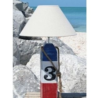 Red, White and Blue Striped Buoy Lamp. // ok this is kinda amazing ...
