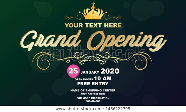 Grand Opening Vector Banner Template Banner Stock Vector Royalty Free 1466222795 Banner Template Grand Opening Templates