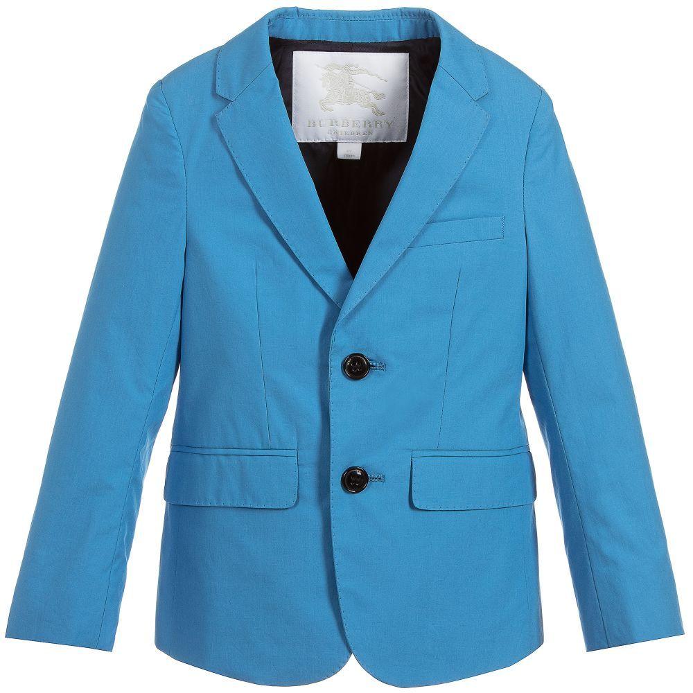 989c4b86f705 Burberry Blue Cotton Tuxy Blazer at Childrensalon.com