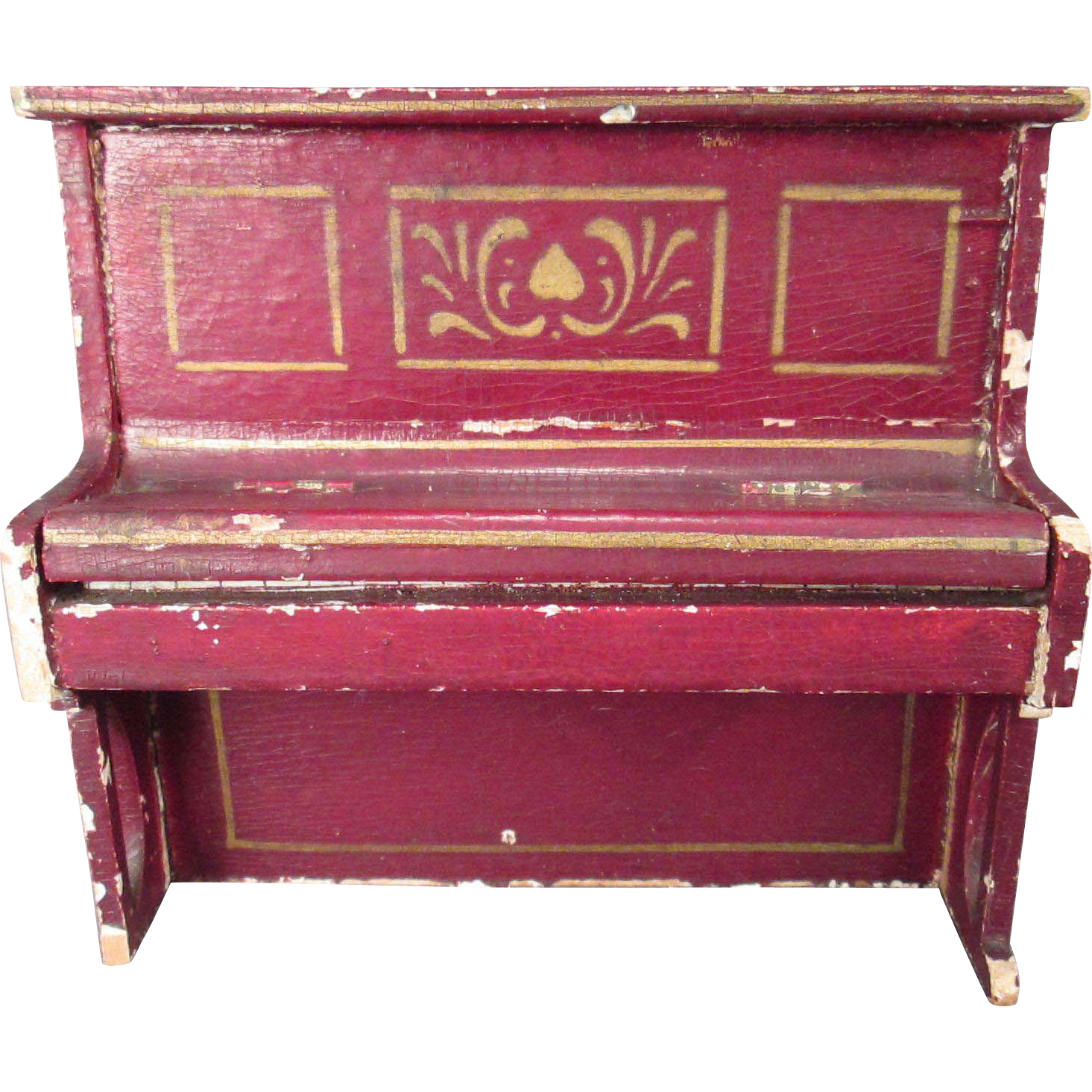 German Dollhouse Furniture   Gottschalk Upright Piano   1
