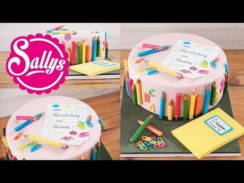 Uberrasche Deinen Kleinen Schatz Mit Dieser Torte Zur Einschulung Bei Uns Gibt S Das Rezept Mit Video Torte Einschulung Einschulungstorte Kuchen Einschulung