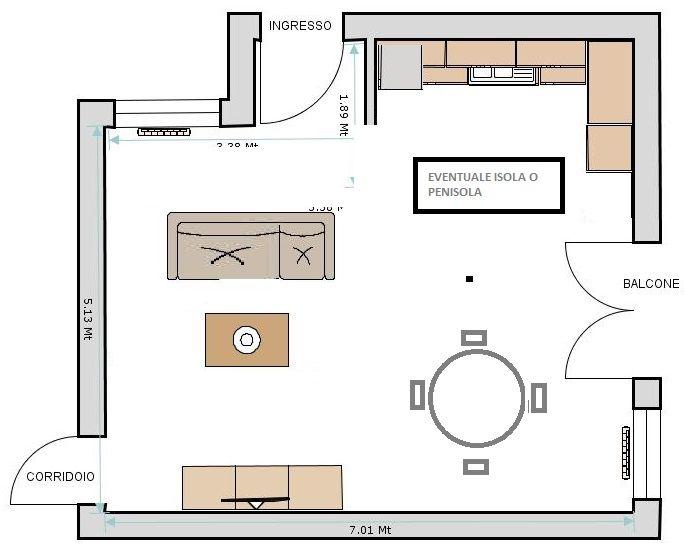 idee cucina soggiorno ambiente unico : forum arredamento.it ... - Realizzare Unico Ambiente Cucina Soggiorno 2