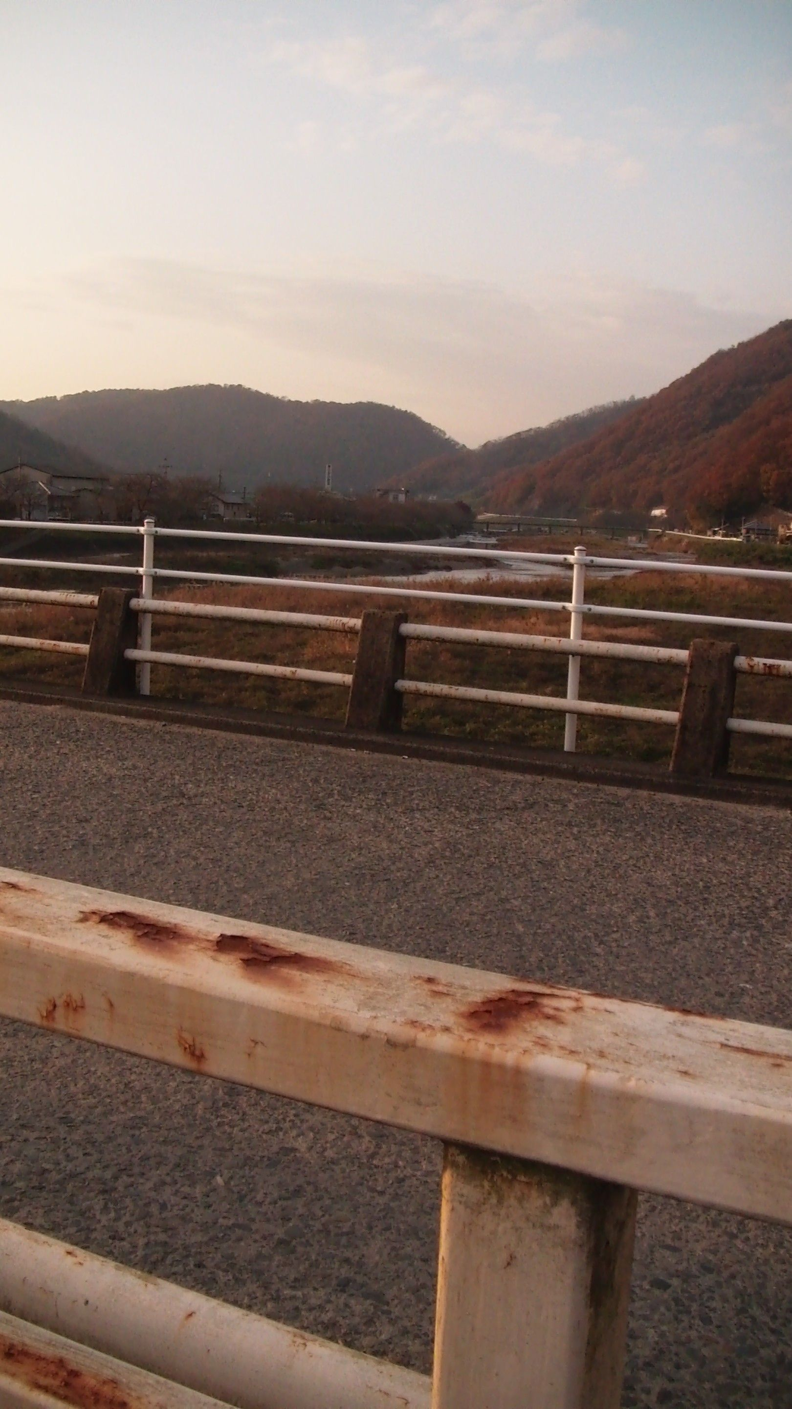 An autumn view of rural Japan. Rusty colors dominate at this time of the year.