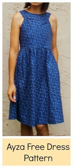 DIY Simple Dress - FREE Sewing Pattern and Tutorial