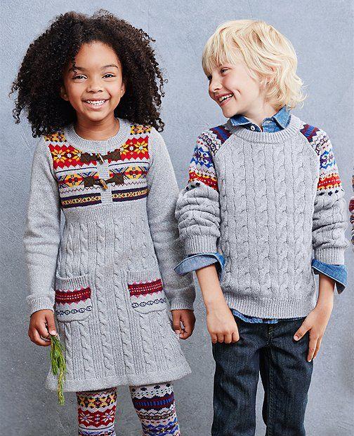 Folk-Mix Fair Isle Sweater and Superwashed Chambray Shirt by Hanna ...
