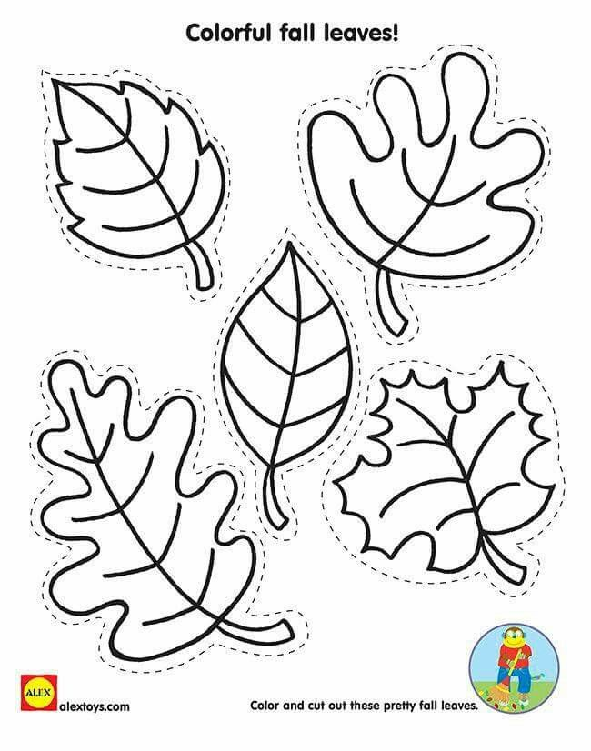 Outono Fall Crafts For Kids Fall Coloring Pages Fall Leaf Template