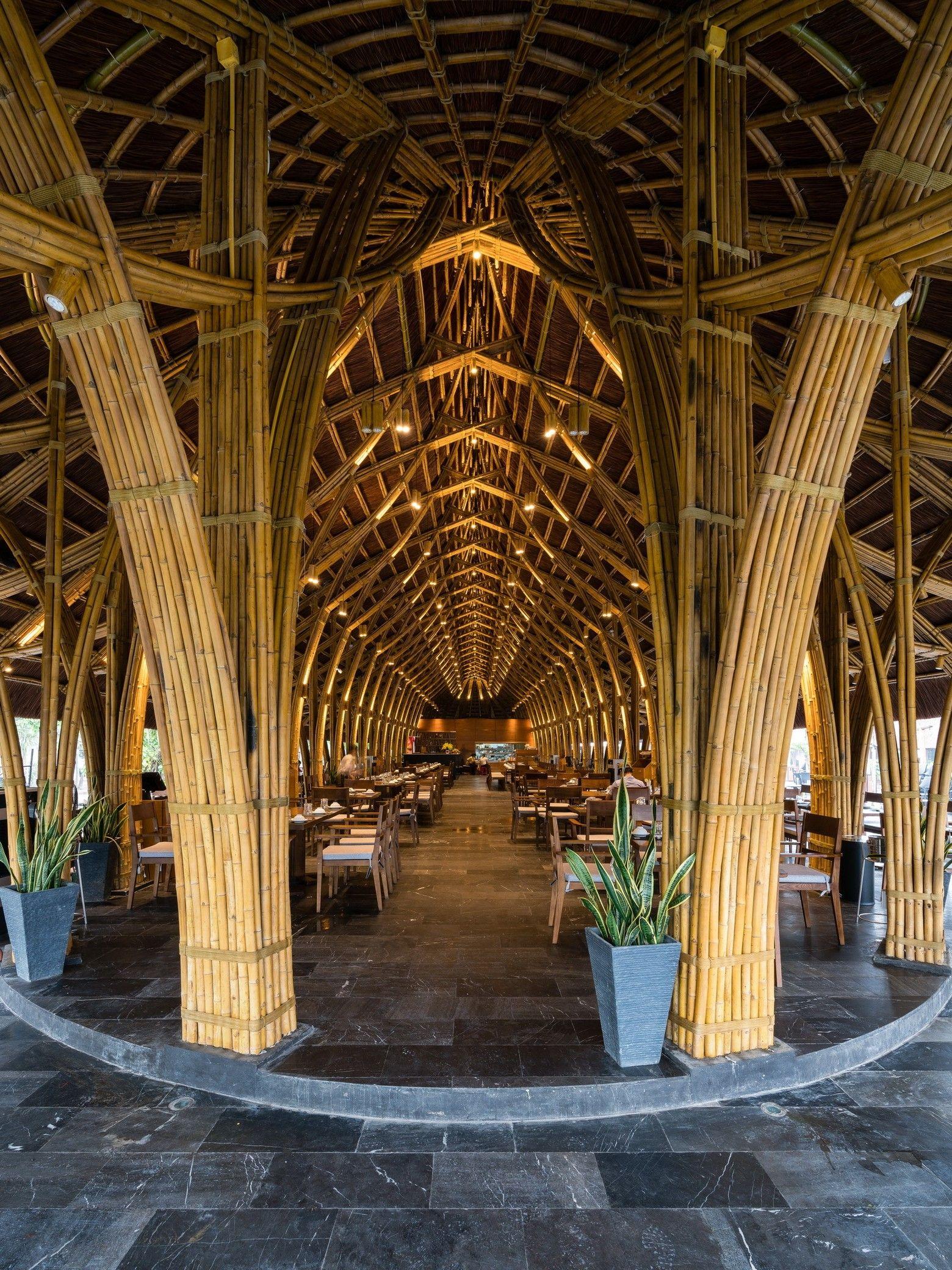 Bamboo Long House Restaurant Bamboo Architecture Bamboo House Bali
