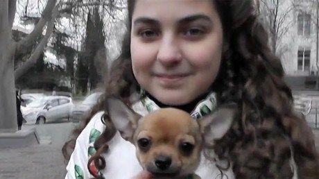 an in the city of sevastopol in crimea has sent a letter to vladimir putin telling the president she wanted a dog now she has become the happy owner of a