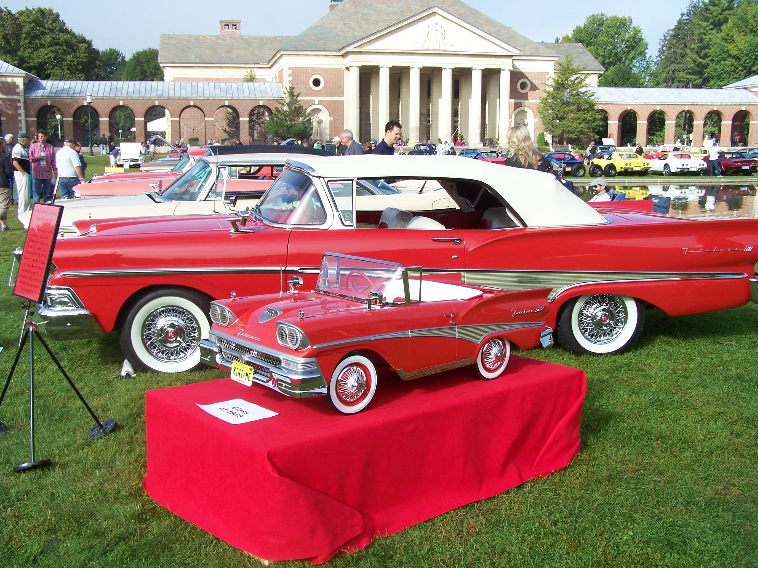 1958 ford fairlane sunliner with matching restored pedal car