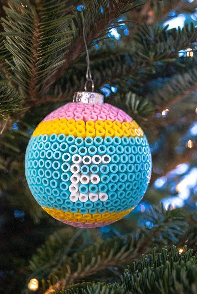 Decorating Glass Ball Ornaments Decorate Glass Ball Christmas Ornaments With Perler Beads  Beaded