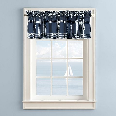 Knot Plaid Valance in Blue/White