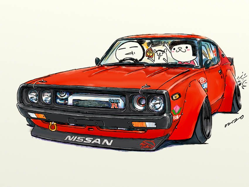 car illustration crazy car art jdm japanese old school kenmary