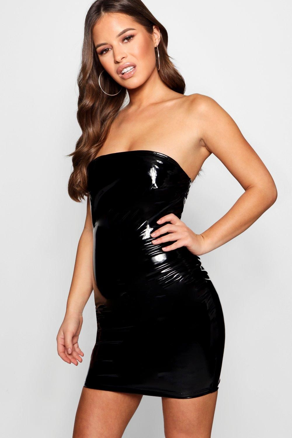 782e0e5800d0 Click here to find out about the Petite Tanya Vinyl Bandeau Dress from  Boohoo, part of our latest Petite Clothing collection ready to shop online  today!