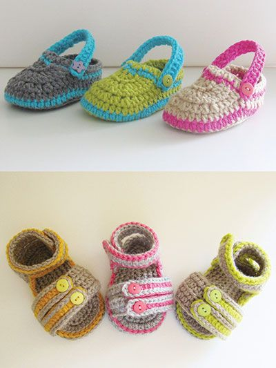 Crochet Baby Sandals Patterns BABY Shoes And Booties Pinterest Gorgeous Crochet Baby Sandals Pattern
