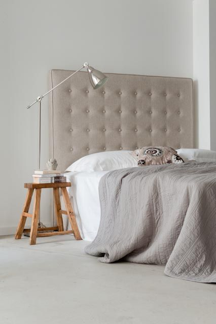 Upholstered Bedhead With Covered Ons And Piping Choose Your Fabric From Our Bednest Range