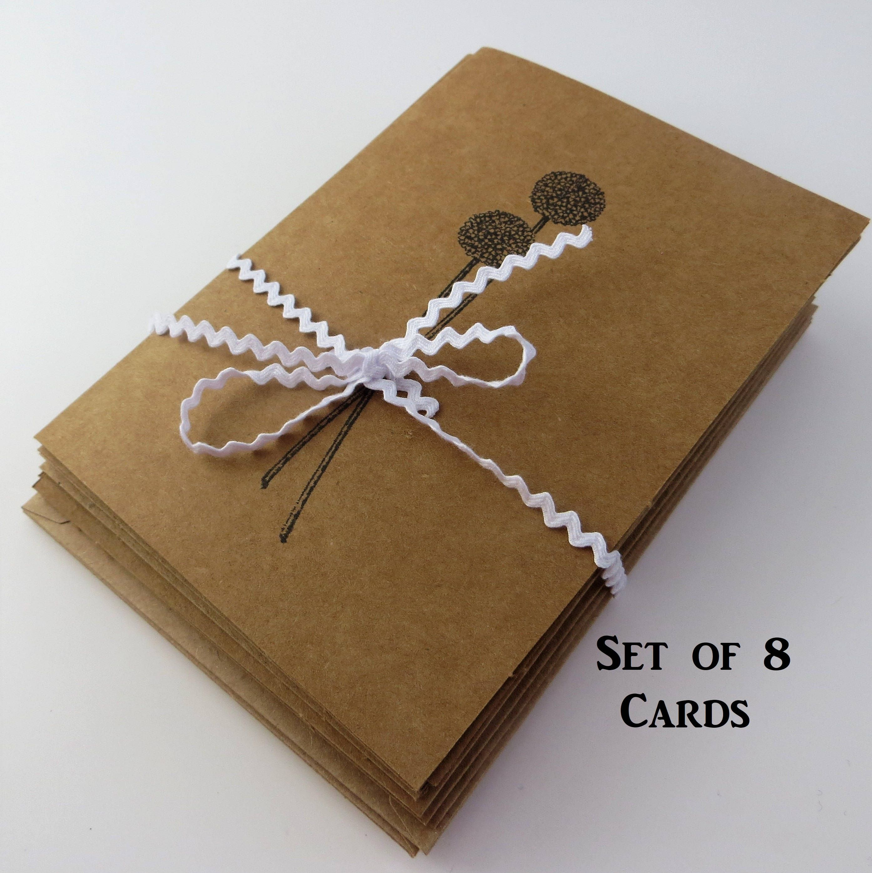 Set Of Greeting Cards And Envelopes Blank Greeting Cards Handmade