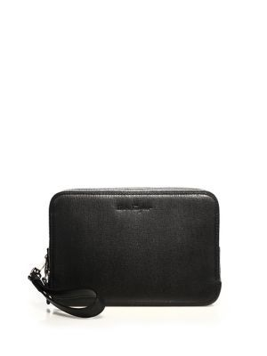 SALVATORE FERRAGAMO Revival Textured Two-Zip Pouch.  salvatoreferragamo   pouch d8794a531dcb9