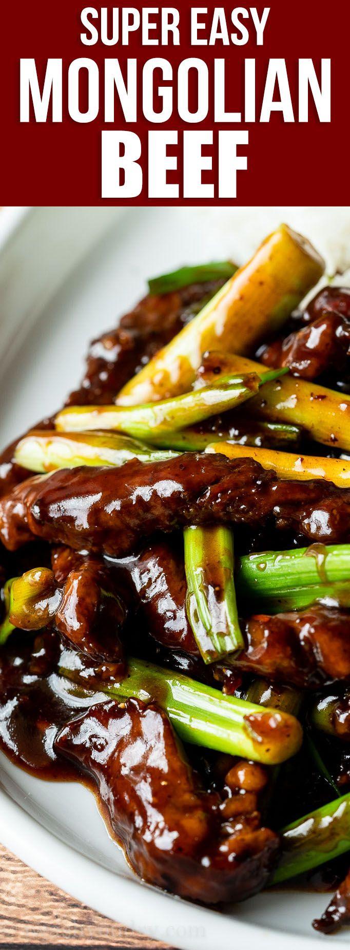 Super Easy Mongolian Beef Recipe Easy Mongolian Beef Beef