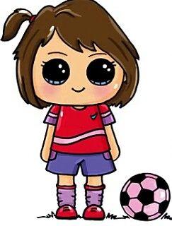 Futboll Dibujos Kawaii Dibujos Bonitos Munequitos Kawaii